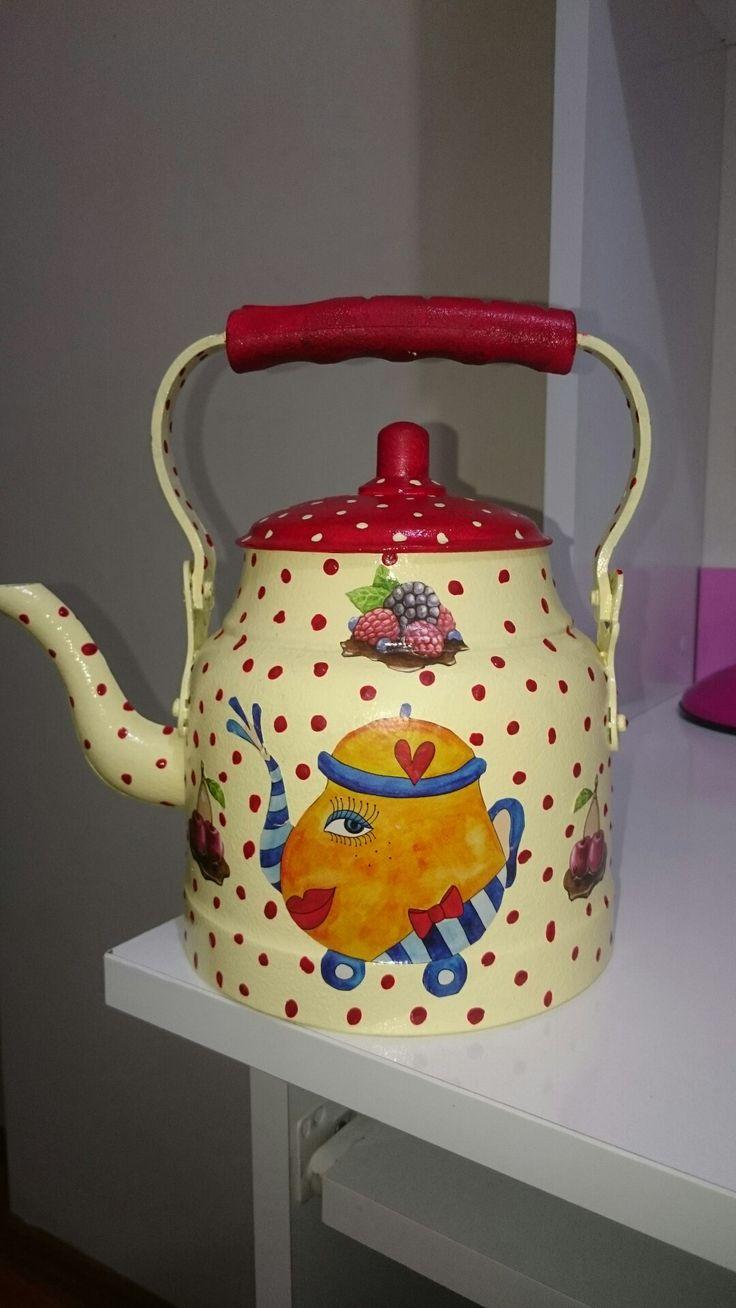 Eski çaydanlık degerlendirme..