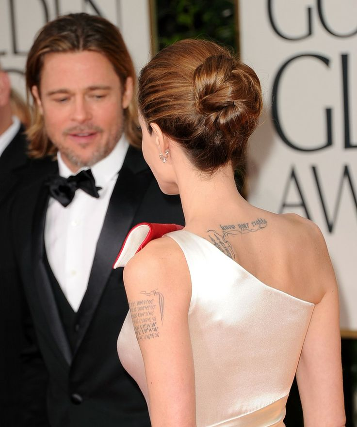 Angelina Jolie & tattoo placement.