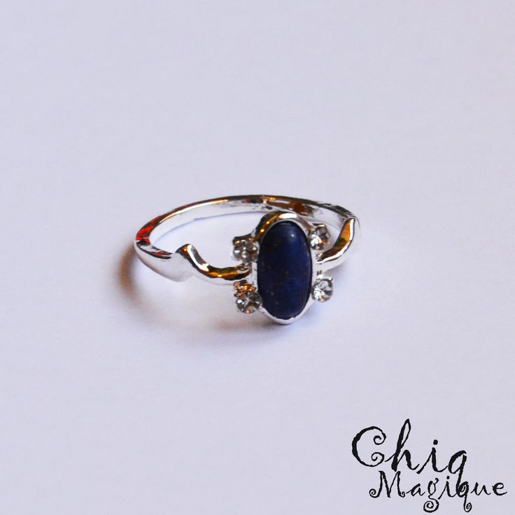 Vampire Diaries Elena Daylight Ring / Lapis Lazuli / Silver / Free Giftbag by MagiqueChic on Etsy