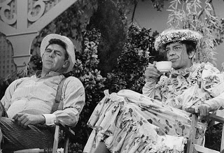 Don Knotts in drag, with Andy Griffith