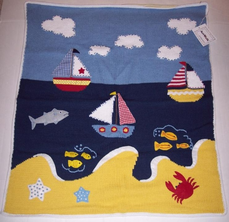 Anchor Knitting Pattern Blanket : Do you have a nautical theme in your babys room? This ...