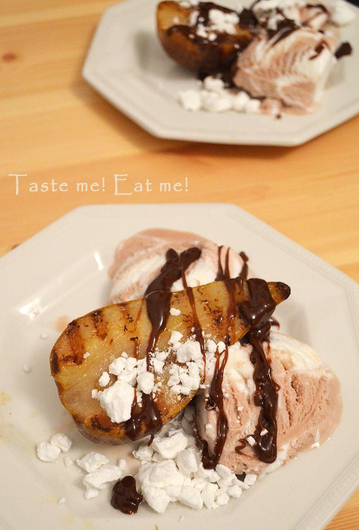 Taste me! Eat me!: Deser dla czasooszczędnych – grillowane gruszki z ...