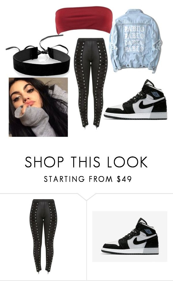 """Baddie #9"" by lidiabarbosa on Polyvore featuring Yeezy by Kanye West, NIKE and Simons"