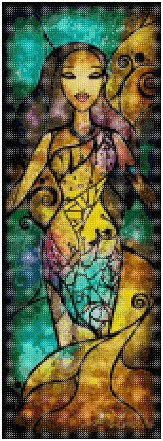 Cross stitch pattern Disney Pocahontas 6 x16.5 door XStitchAddict