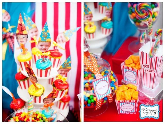 love circus parties :): Birthday Boys, Outrag Circus, Circus Themed, Circus Peanut, Party Idea, Cupcake Toppers, Circus Party, Circus Time, Birthday Party