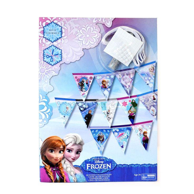 Afmeting: 29 x 21 cm - Disney Frozen Maak je eigen Vlaggenlijn
