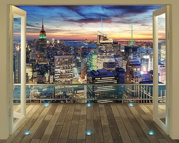 New York City Skyline Wall Mural City Skyline Wallpaper Living Room Decor Photos City Skyline