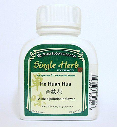 Albizia Julibrissin Flower Herb Extract Powder  He Huan Hua 100g or 35oz ** For more information, visit image link.