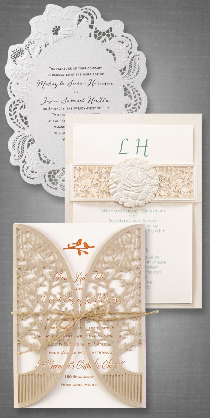 Laser cut wedding invitations are like no