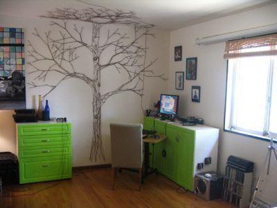 Yarn tree: Wall Art, Trees Art, Wall Murals, Yarns, String Art, Families Trees, Trees Murals, String Trees, Trees Wall