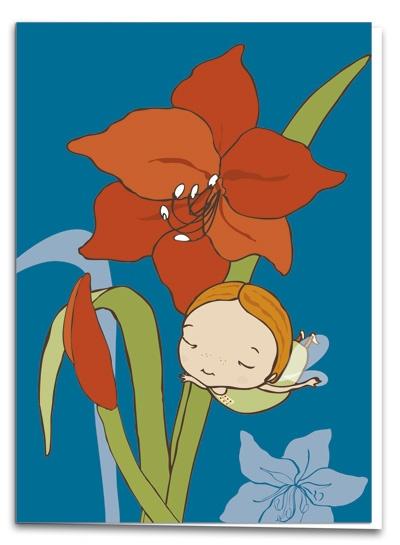 Amaryllis - illustration by Terese Bast  #amaryllis #flower #christmas #teresebast #illustration