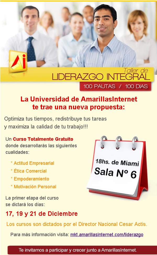 Capacitaciones de Liderazgo conla Universidad Amarillas Internet