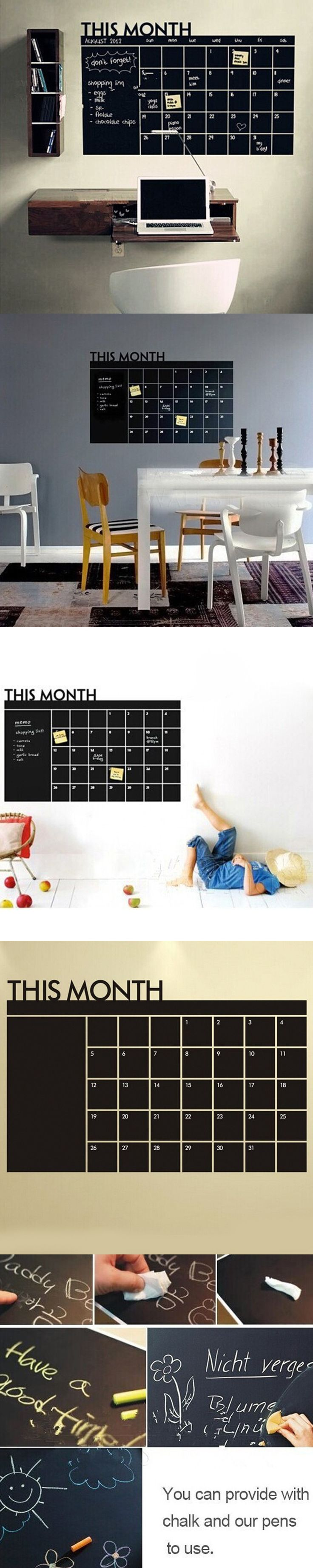 best 25 wall stickers for kids ideas on pinterest army room 60x92 month plan calendar chalkboard blackboard vinyl wall sticker for kid bedroom adult study living room