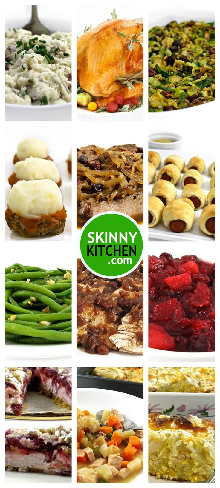 Skinny Kitchen Recipe Roundup for Christmas & Hanukkah. I'm sharing dozens of really delicious, easy recipes. Mix and match to create your own fabulous meal!  http://www.skinnykitchen.com/recipes/skinny-kitchens-holiday-recipes-roundup-2/