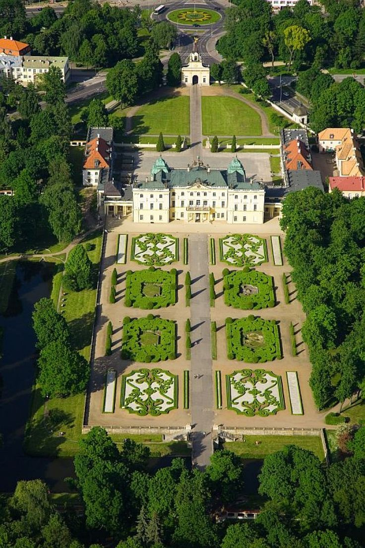 Castles in Poland • Palace of the Branicki family, Białystok, Poland.