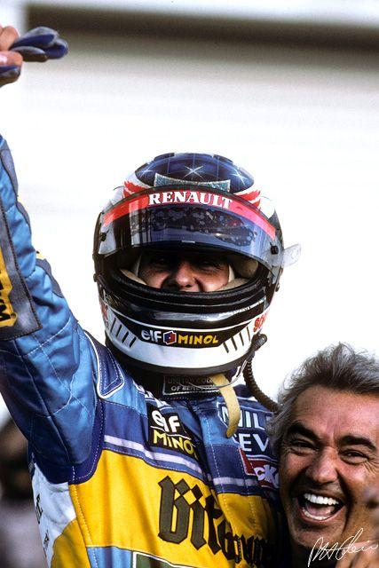 Michael Schumacher and Flavio Briatore 1995