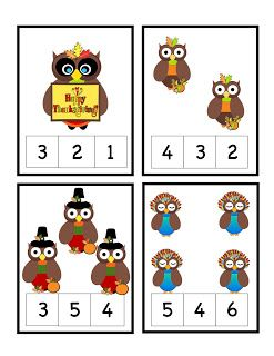 Preschool Printables: Thanksgiving