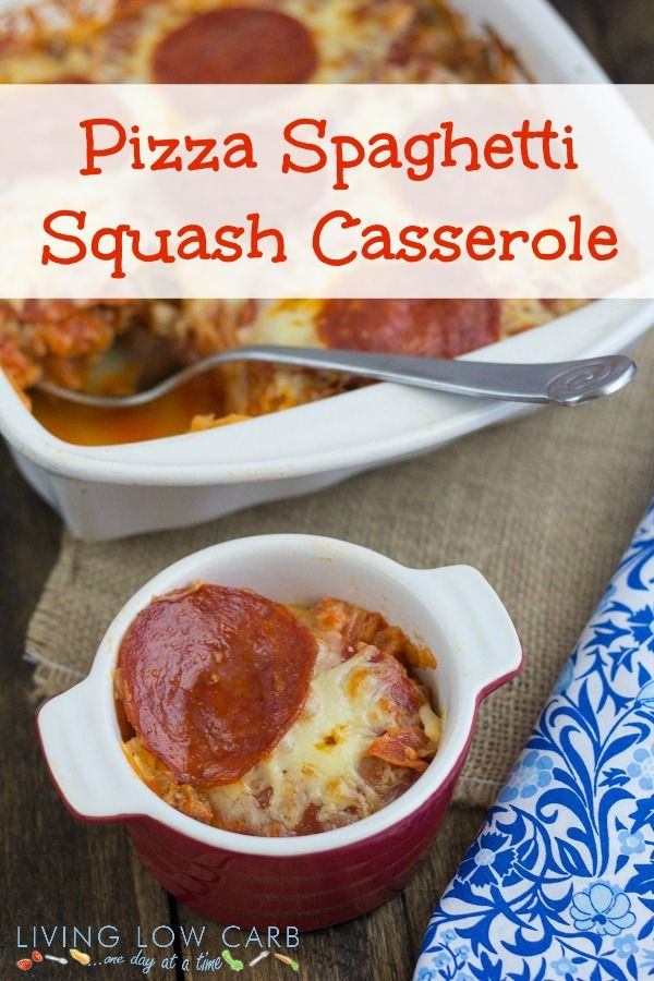 Pizza Spaghetti Squash Casserole Shared on https://www.facebook.com/LowCarbZen | #LowCarb #Pizza #Casserole