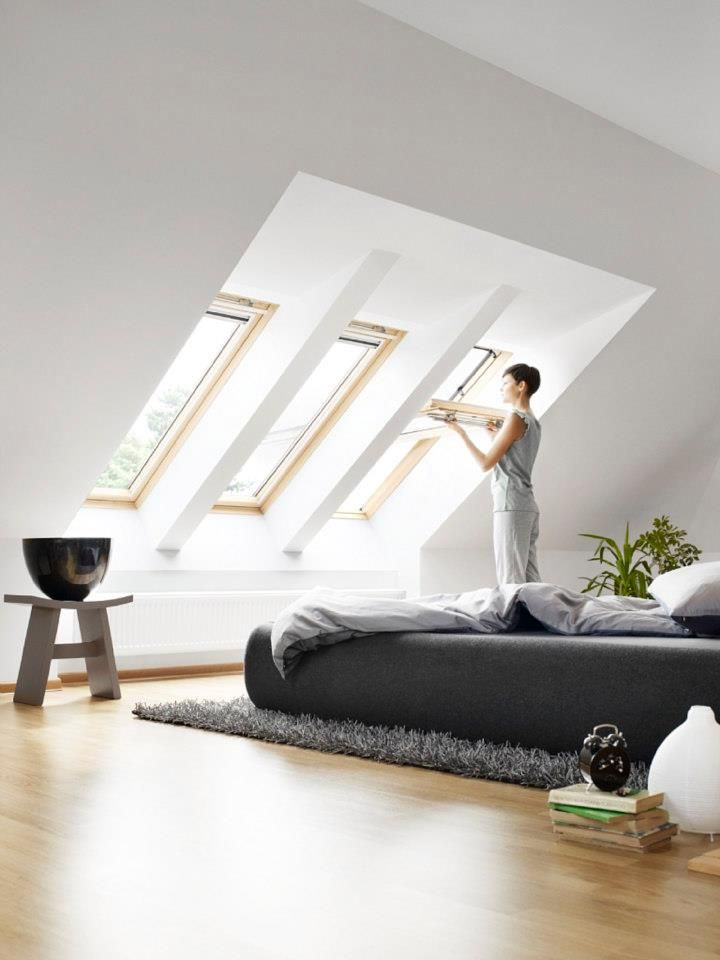 A low bed under your roof windows will give you better views of the stars at night.