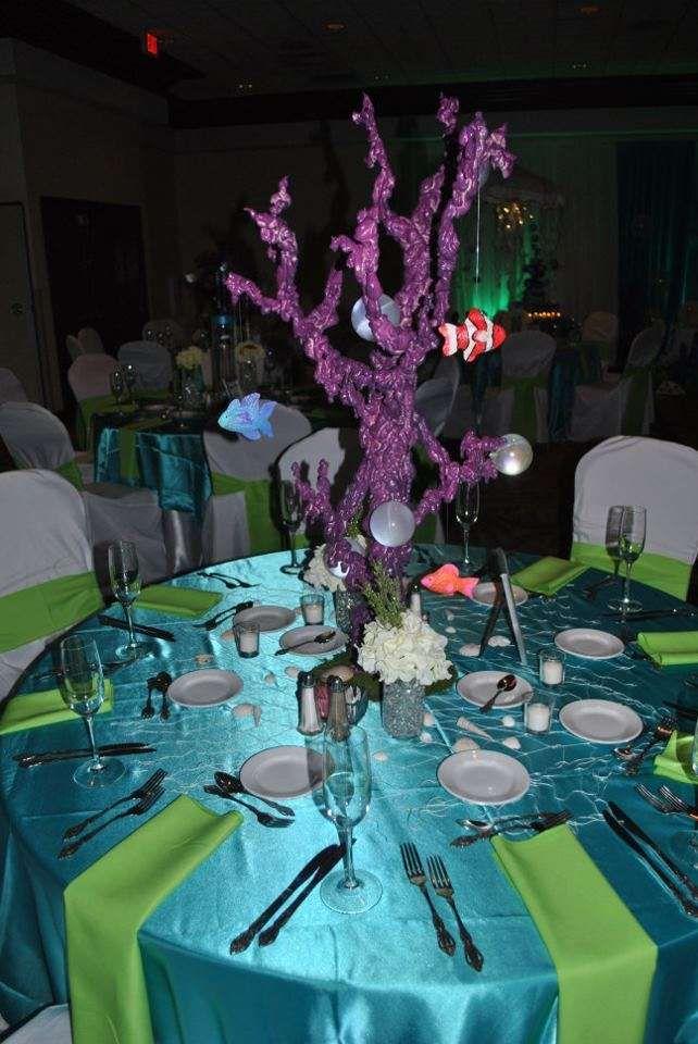 under the seabeach quinceaera party ideas party decoration ideascenterpiece