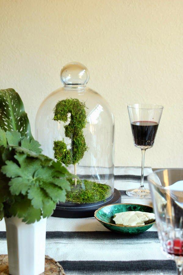 QUIERO UNA BODA PERFECTA: Tutorial: Numera las mesas de tu boda con musgo