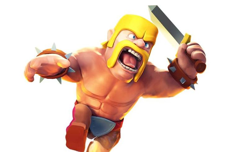 "A Barbarian character from the ""Clash of Clans"" mobile videogame. ""Mobile is now…"