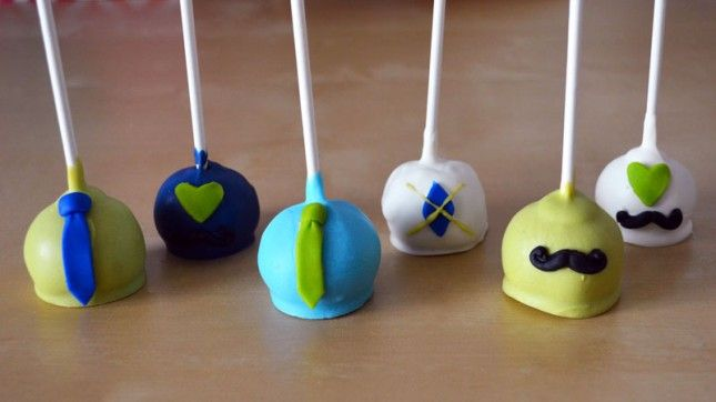 Little Man Cake Pops   40 DIY Father's Day Gift Ideas