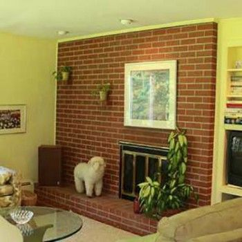 Before & After: A Kitschy Midcentury Fireplace Goes From Shabby to Chic – Design*Sponge