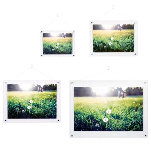 mujis unobtrusive acrylic frames are designed to ensure the focus is on the picture and not - Muji Frames