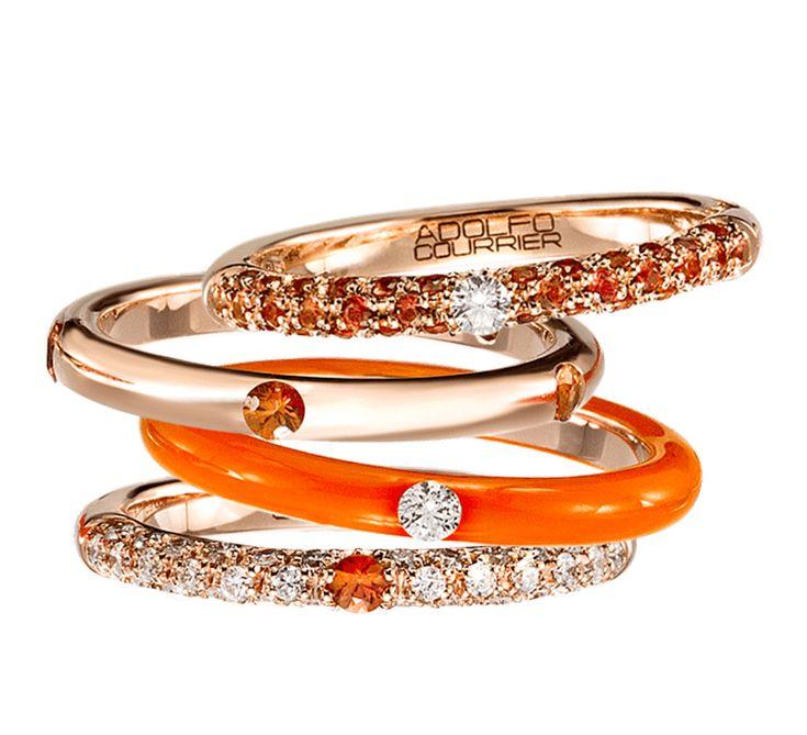 Модный аксессуар, который создан для творческих натур. Золотые кольца с бриллиантами станут неотъемлемой деталью вашего образа. Привлекательное и очень стильное украшение подойдет к праздничному и будничному образу. Цветовая палитра подарит яркое настроение, оранжевый цвет символизирует яркую жизнь.