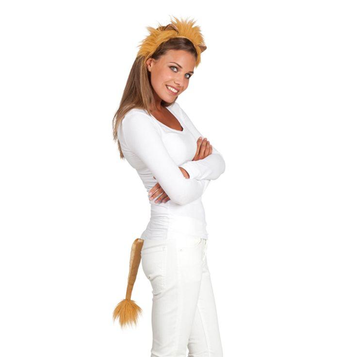 Verkleedset Leeuw. Verkleedset leeuw bestaande uit een haarband met oren en manen en een staart. - Verkleedset Leeuw