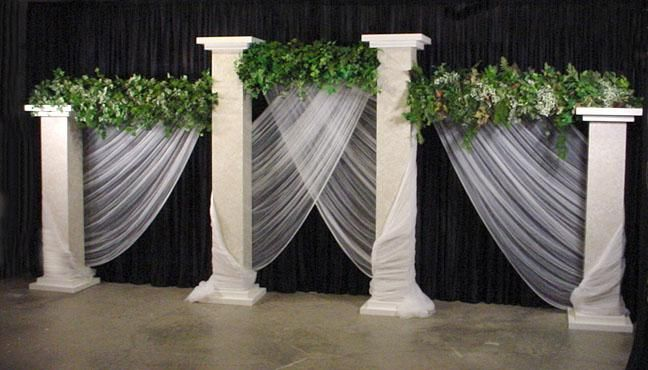 Beautiful pillars - used for reception or ceremony! :)