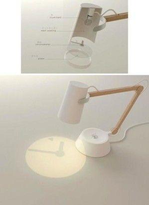 Innovative table lamp with clock // innovative #Tischleuchte, die die #Uhrzeit anzeigt