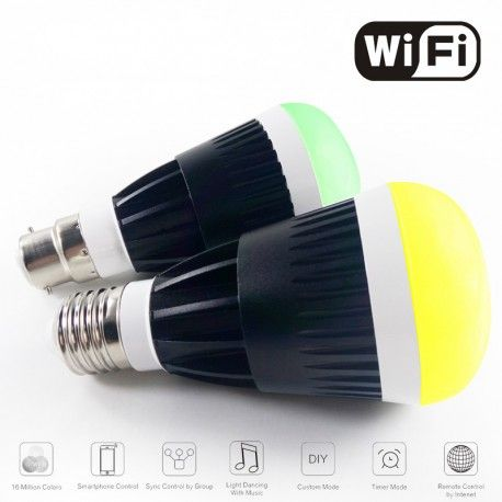 10W Smart RGB White Led bulb Wifi Wireless télécommande led light lamp Dimmable bulbs E27 for IOS Android