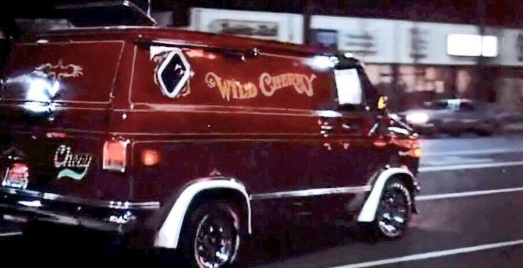 """Wild Cherry"" custom 70's Chevy van"