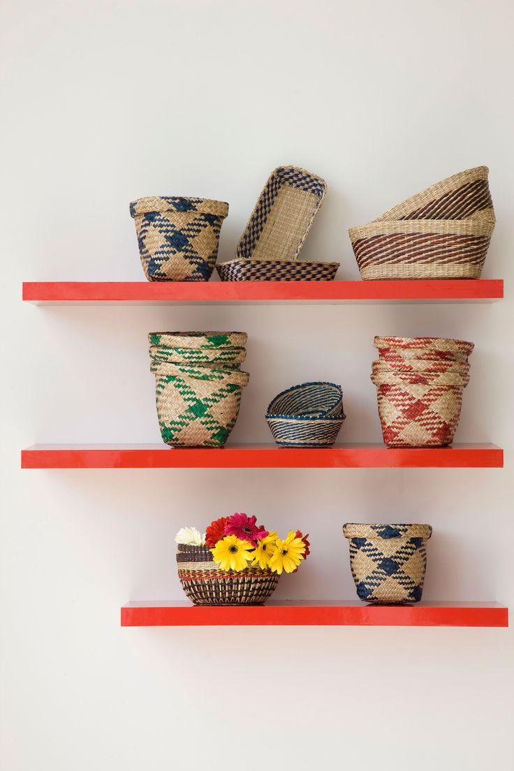 Con diferentes canastos de #VivaMexicoEasy puedes jugar con la decoración de tu hogar.