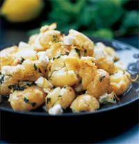 Crushed new potatoes with feta cheese and mint by Tana Ramsay - hellomagazine.com