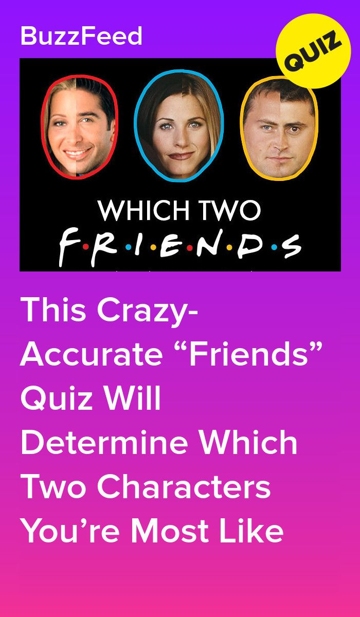 This Crazy Accurate Friends Quiz Will Determine Which Two Characters You Re Most Like Friend Quiz Friends Quizzes Tv Show Friends Tv Quotes