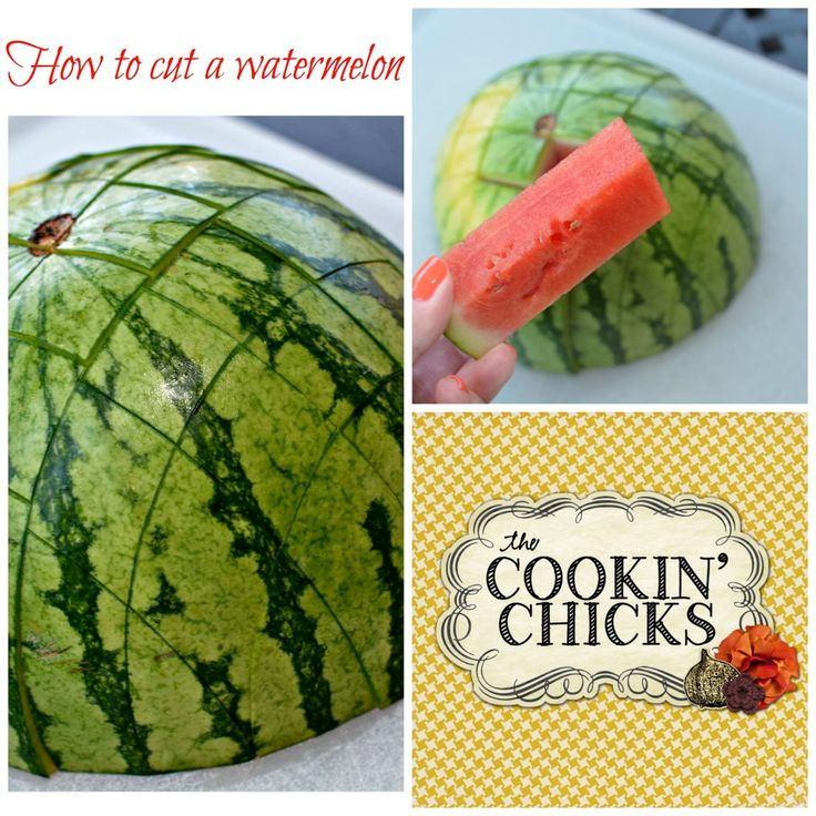 how to cut the watermelon