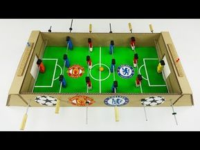 DIY Table Football for 4 Players Derby Chelsea - Manchester United - YouTube