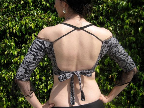 Bare Shoulder Gypsy Choli Twilight by chovihani on Etsy