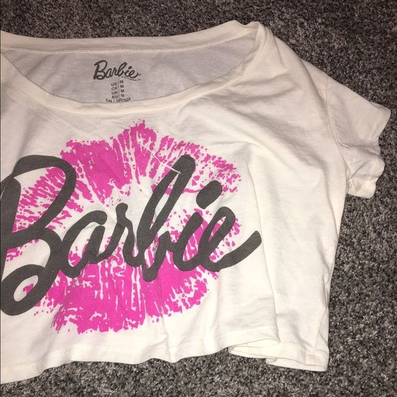 Barbie Crop Shirt Crop T-shirt with the Barbie logo on the front. Forever 21 Tops Crop Tops