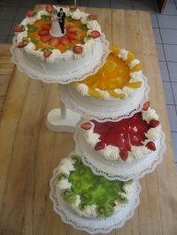 svatební dort 4 patra 1125