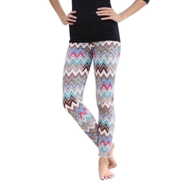 Multi-Color Women Ladies Elastic Leggings Slim Casual Long Render Pants Trousers Quality
