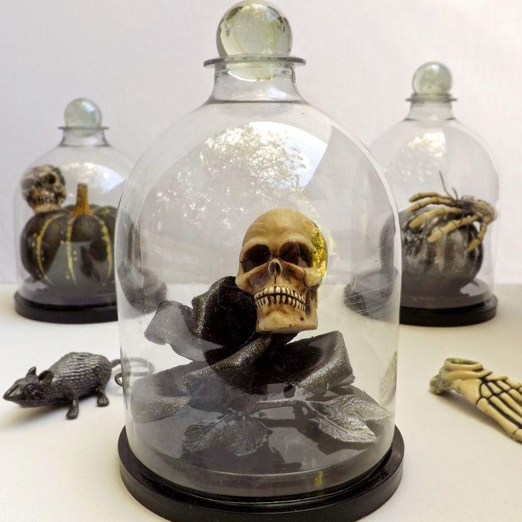 SewforSoul: Halloween soda bottle cloche.  Plastic pop bottle bell jar.  FULL TUTORIAL