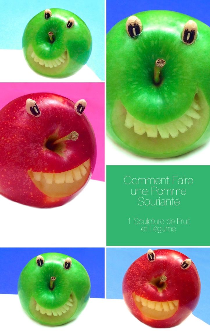 How to Make a Smiling Apple (check out the video)