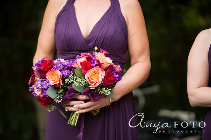 anyafoto.com, wedding bouquet, bridal bouquet, red bouquet, orange bouquet, purple bouquet, eclectic bouquet