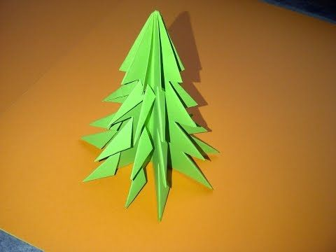Tannenbaum Falten, Weihnachtsbaum Selber Basteln. Ideen Für Weihnachtsdeko