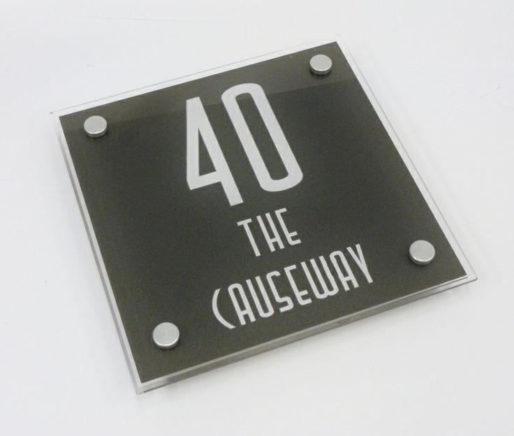 House number plaque Needing A Large Number for your Home... The Large Square House Sign is a great size to fit most properties and a perfect size to add large numbers to be seen from the road side. http://www.de-signage.com/modern-house-signs-large-square.php