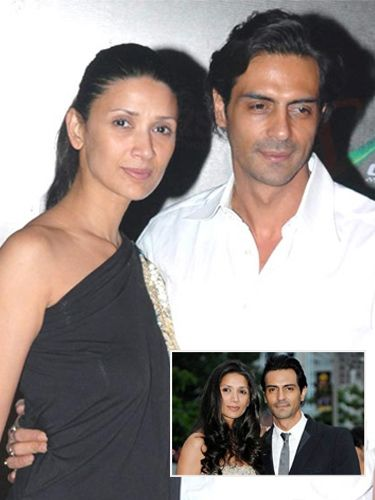 8 Bollywood Celebs who are Younger than their Wives - Arjun Rampal-Mehr Jessia